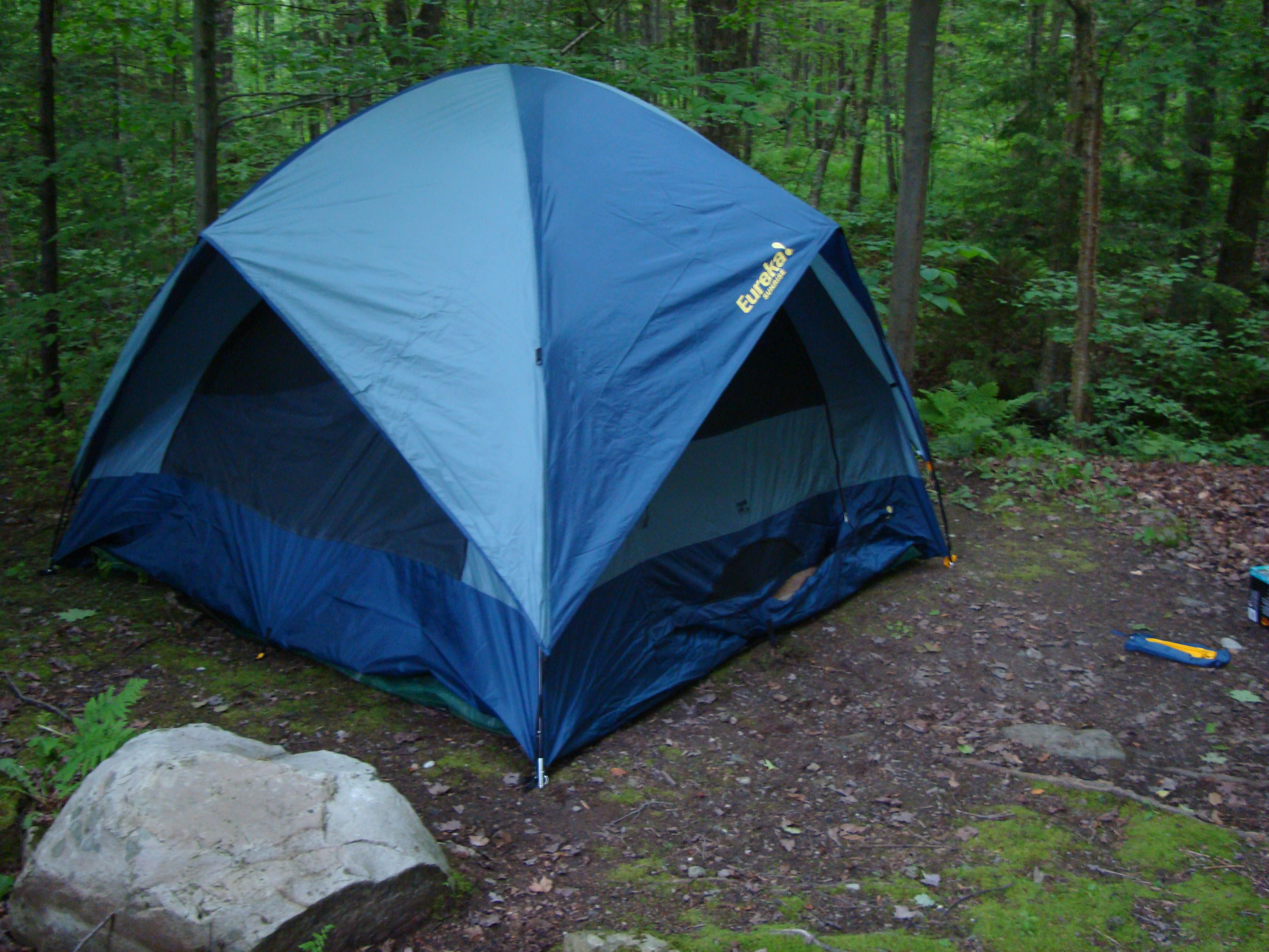 We pack up our tent and & Camping Tent In Woods