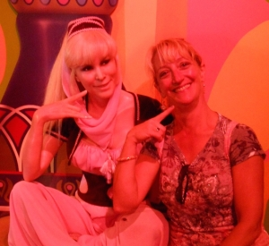 My bestie and me in the Wax Museum at Niagara Falls.