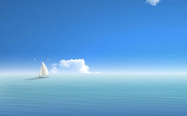 sailboat horizon