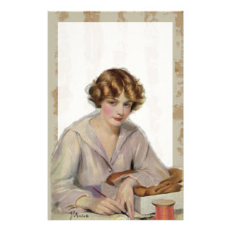 vintage_woman_writing_letter