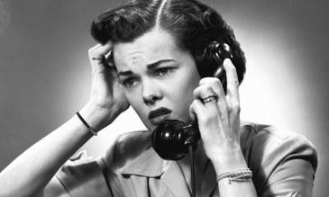 Displeased woman on phone