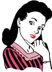 retro woman