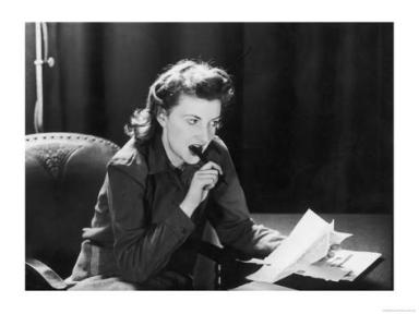 woman making list