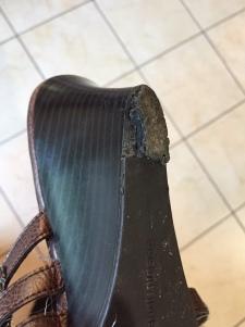 shoe heel mess